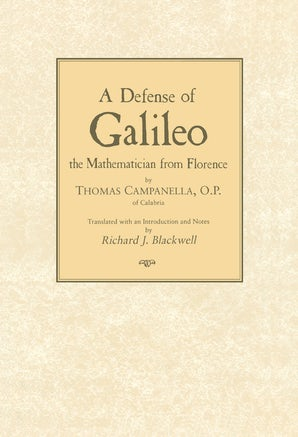 Defense of Galileo book image