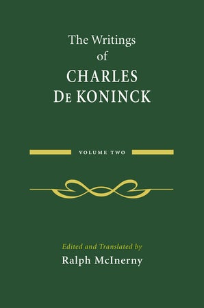 The Writings of Charles De Koninck book image