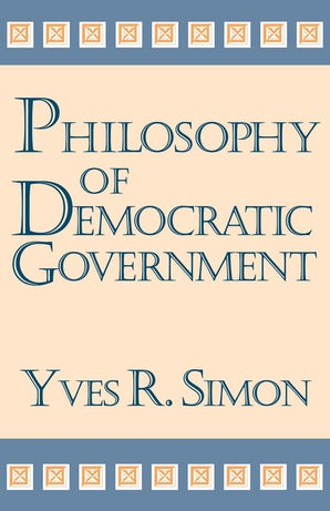 Philosophy of Democratic Government book image